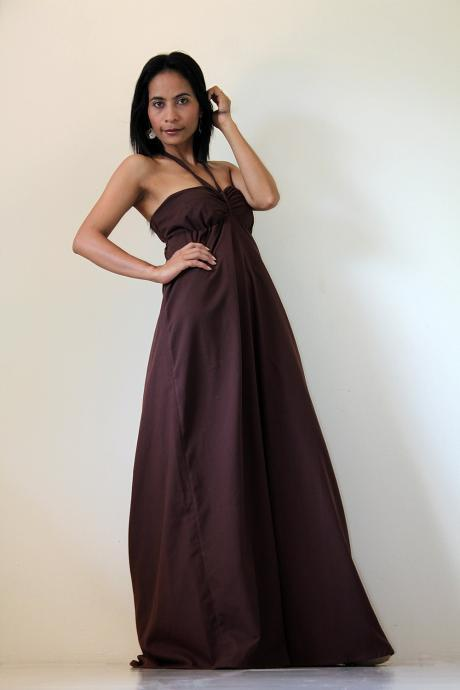 Brown Maxi Dress - Sexy Strapless Long Cotton Maxi Dress : New Cutie & Sexy Collection
