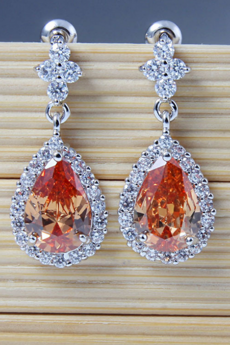 Sparkly Crystal Teardrop Earrings