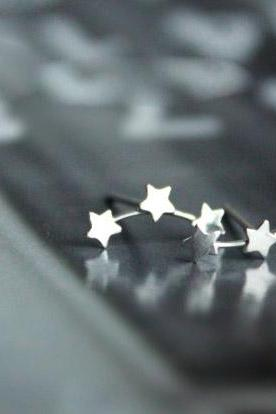 Stars Star 925 Sterling silver earrings minimaliststar cute elegant ear stud ear nail