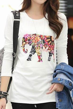 Elephant print fashion t-shirt BV1011H