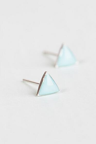 Sterling Silver Anti Allergy Triangle Earring