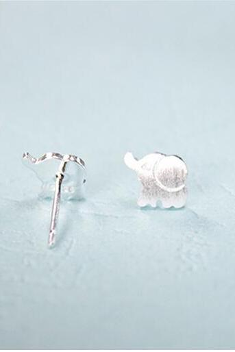 Sterling Silver Anti Allergy Small Elephant Earring