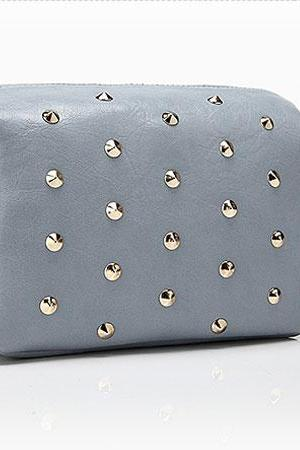 Fresh Sweet Gray Rivet Shoulder Bag& Messenger Bag