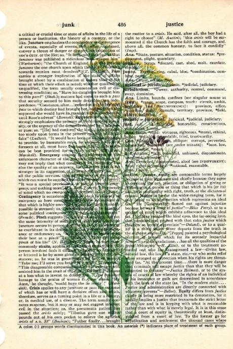 Dictionary Book Page Art print Fennel herb