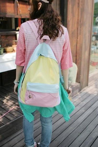 Backpack With Patchwork Detail