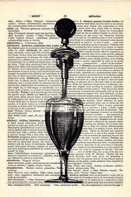 Dictionary Book Page Art print Beer Tap