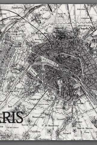 PARIS Map Vintage Image Mouse Pad