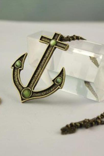 anchor, fashion pendant necklace