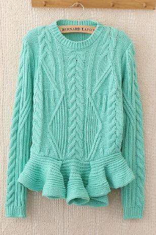 Retro flouncing knit sweater AD101321JL