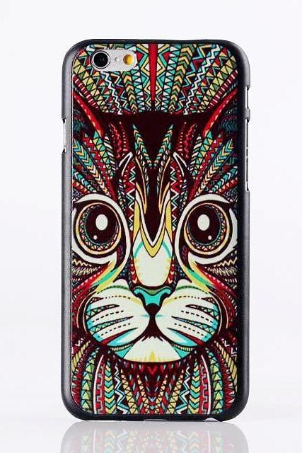 *Free Shipping* 18 kinds top fashion animal painting hard case for iphone 6 6g back cover case 4.7 inch colorful simple line style phone case