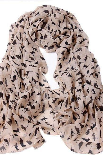 Autumn fashion animal print girl scarf