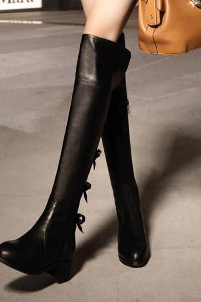 Knee High Boots,Sexy Womens Bow Boots,High Boots Fashion Boots