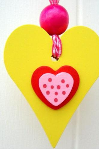 Small wooden chunky Heart