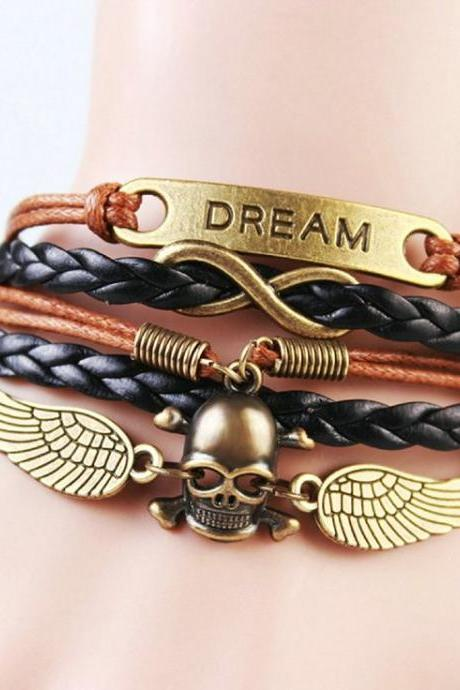 Biker teenage dreamer girl bracelet