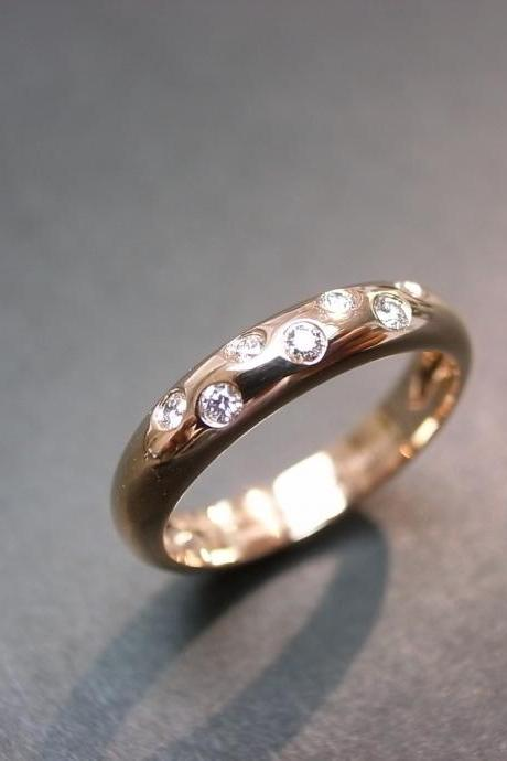 14K Rose Gold Diamond Wedding Ring