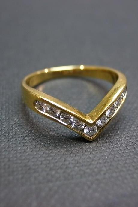 Wedding Diamond Ring in 14K Yellow Gold