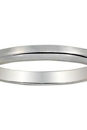 Custom Made - 2mm Comfort Fit Wedding Ring in 14K White Gold