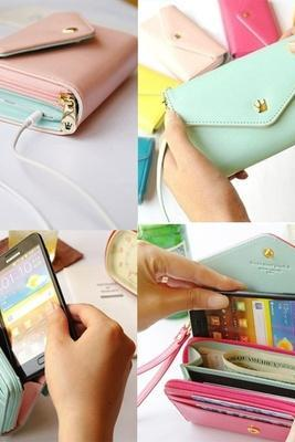 Woman Wrist Wallet Pouch Wristlet for Cell Phone for iPhone 6 iPhone 4 4S 5 5S 5C 6 ,Samsung Galaxy S3, S4
