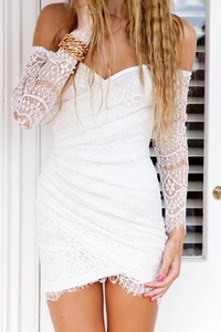 Europe and the United States new irregular dress lace