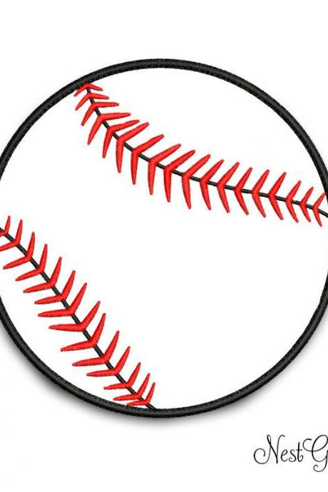 Digital File Baseball Ball Embroidery Applique, download Ball Applique file