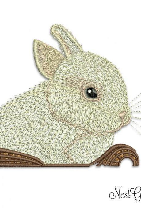 Embroidery Baby Rabit Applique digital file, machine embroidery file