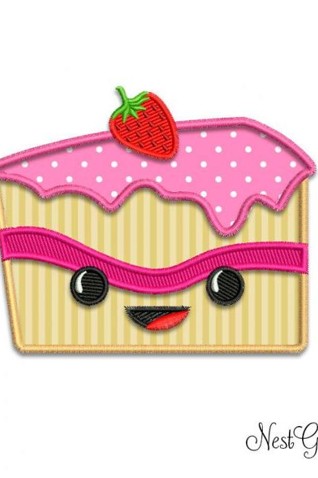 Pie Cake Applique Embroidery Digital Machine file