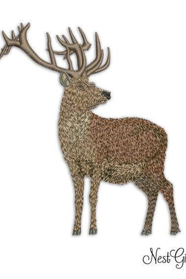 Download Deer Applique Embroidery Digital file, machine Embroidery design