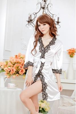 Transparent temptation cardigan bathrobe pajamas(free size)