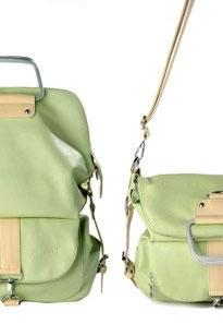 Fashion Green Multifunction Backpack &Handbag