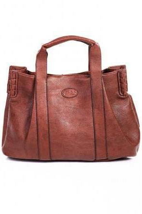 Brown Leather Tote Hobo Handbag Shopper Tote Brown Leather Handbag Brown Purse Leather Purse