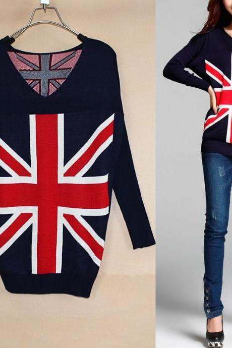Uk Flag Sweater Knit