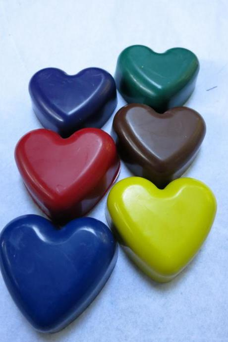 Large Heart Crayon Set of 6