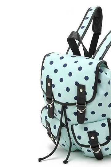 Full Of Dots Pattern Casual Backpack