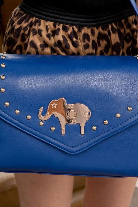 Lovely Rivet Elephant Cute Messenger&Shoulder Bag