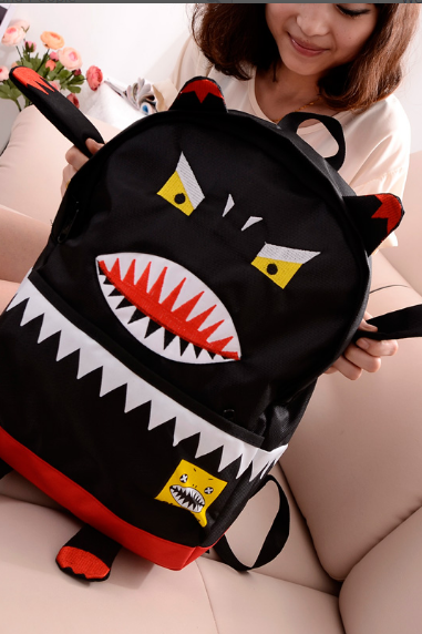 Cute Monster Handbag Shoulder Bag Backpack School Bag