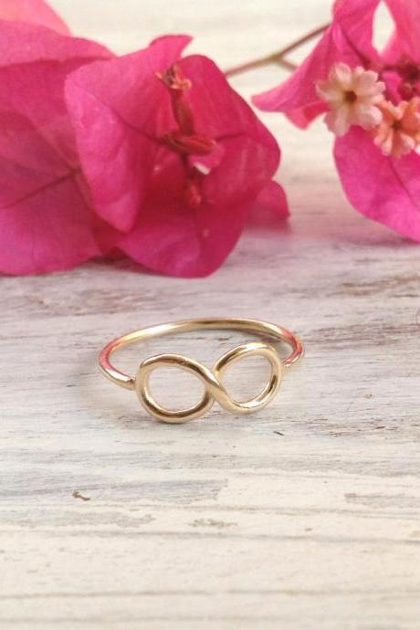 Infinity ring, infinity knot, gold ring, infinity knot ring, above knuckle ring, knuckle ring - 1002