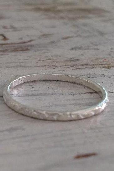 Stacking ring, silver ring, knuckle ring, thin gold ring, hammered ring, tiny ring, sterling silver ring -SIL522