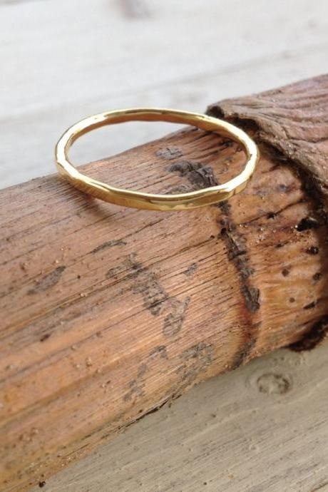Above knuckle ring, stacking rings, gold ring, handmade, stack ring, thin gold ring, hammered ring, gold knuckle ring