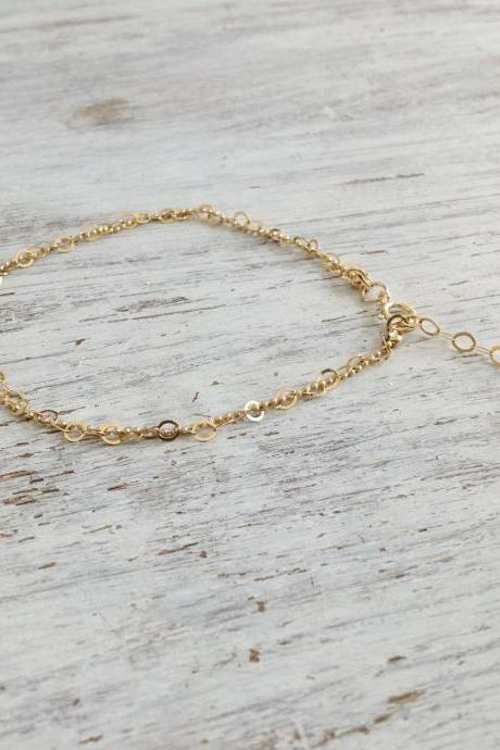 Gold anklet, delicate anklet bracelet, dainty gold bracelet, simple anklet, basic anklet, everyday jewelry, anklet bracelet -20022
