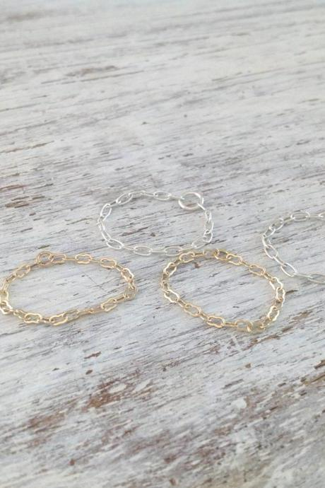 knuckle ring, thin ring, silver and gold, knuckle rings, set of 4 rings, tiny ring, dainty ring, thin rings, any size- CR4