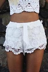 Fashion lace shorts #DF102115HK