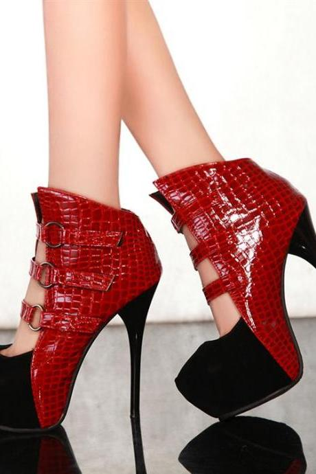 Fashion Stiletto High Heel Basic Red Pumps