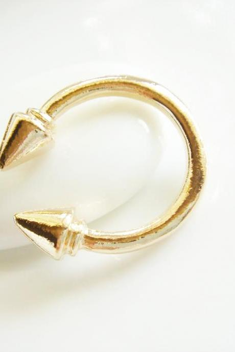 Gold Plated Punk Style Illusion Ring R58