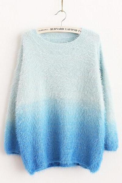 Women Blue Sweater