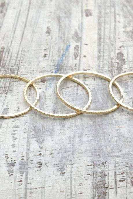 2 Gold rings, gold ring, Stacking rings, stacking gold rings, thin ring, tiny ring, gold stacking rings, simple gold ring