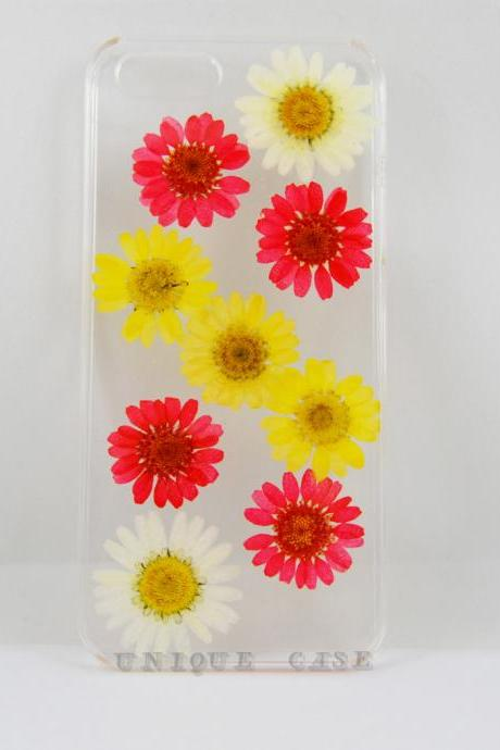 Pressed flower iphone 6 case real flower iphone 4s 5s 5c case, red white yellow daisy iphone 5 case, real flower S2 S3 S4 mini S5 LG G2 M7 z10 case