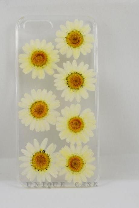 Pressed flower iphone 4s case real flower iphone 5 5s 5c case, Lovely white daisy iphone 6 case, real flower S2 S3 S4 mini S5 LG G2 M7 z10 case