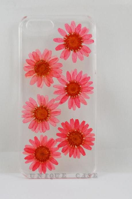 Pressed flower iphone 6 case real flower iphone 5 5s 5c case, pink daisy iphone 4s case, real flower S2 S3 S4 mini S5 LG G2 M7 z10 case