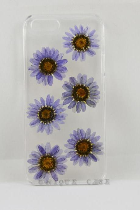 Pressed flower iphone 4 case real flower iphone 5 5s 5c case, purple daisy iphone 6 case, real flower S2 S3 S4 mini S5 LG G2 M7 z10 case