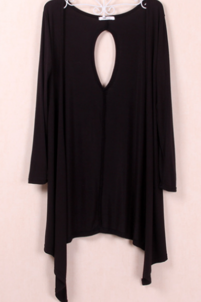 Large yards long section of irregular knit shirt